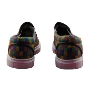 "NEW WOMENS CANVAS SLIP-ON SNEAKERS /""NEW VINTAGE/"" ARTISAN DESIGN TEXTURE ART"